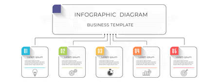 Infographic diagram template 5 options.