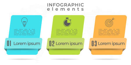 Modern infographic template 3 options.