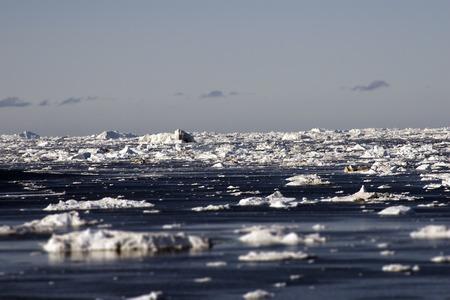 icefjord: Greenland glaciers ocean sky clouds