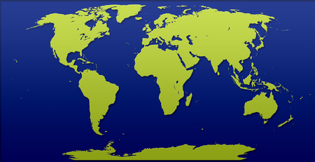 World Map Illustration cut out effect effects Stock Photo