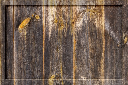 Aged old dark wooden timber plank wall background blank billboard