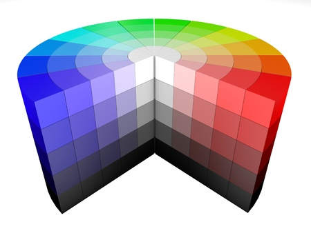 hsv: 3d color colors wheel representing HSV HSB