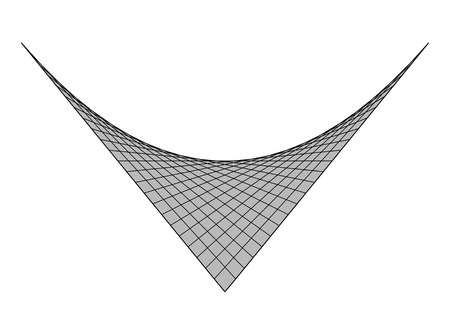 awry: hooked crooked surface black lines white background grey polygon polygonal