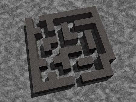 simple labyrinth maze texture 3d render dark light lights shadow shadows