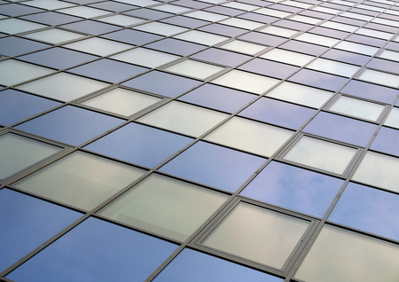 Modern Office Building skyscraper surface fasade blue