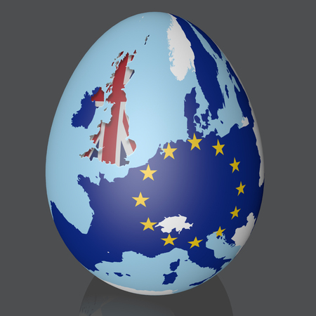 Brexit UK and EU map easter egg flags europe cut out fx