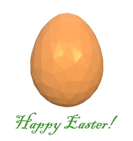 easter low poly polygonal golden yellow egg