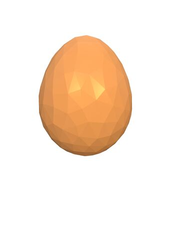 happy easter low poly polygonal golden yellow egg 3d illustration rendering