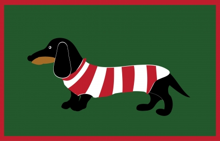 Dachshund in stripes Vector