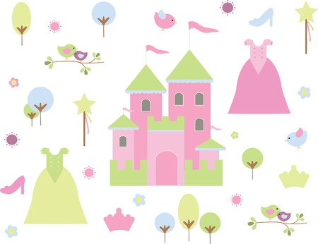 cartoon princess: Princess Kingdom Illustration