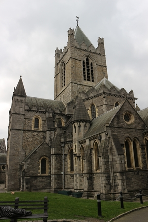Historic Christ Church in Dublin Ireland