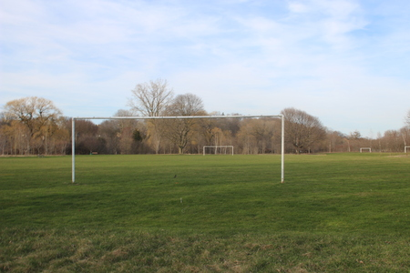 Goal Posts for both soccer and football designed for High School and College Sports