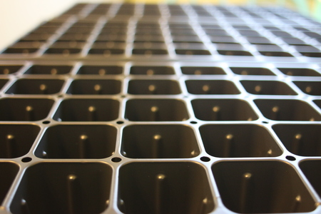 Planting Seed Starting Trays for creating plugs