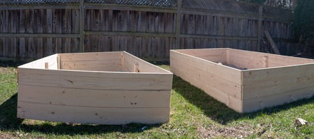 A Raised bed in a garden.