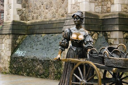 Molly Malone bronze statue in Dublin, Bronze statue of a fictional fishmonger named Molly Malone, the star of a well-known Irish song.