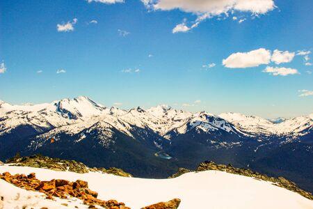 View Of Revelstoke In British Columbia, Canada. Stockfoto