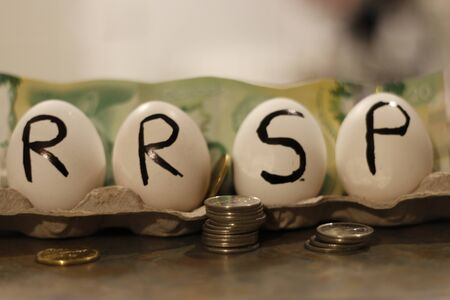 Canadian Registered Retirement Savings Plan Concept.