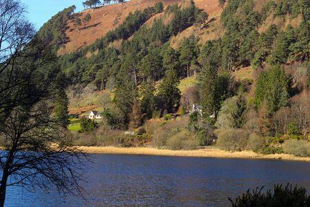 Sally Gap in Wicklow Mountains. Foto de archivo