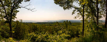View of meaford ontario in panoramic formatting.