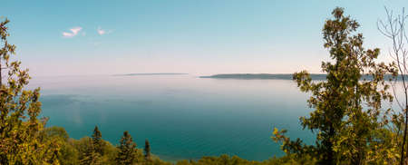 Rocky Beach at Bruce Peninsula National Park Ontario Canada 写真素材