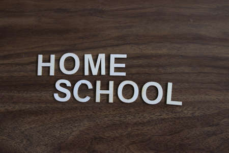 Home school theme images. concept of parents home schooling due to covid 写真素材