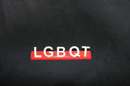 The word LGBTQ on a black background Stockfoto