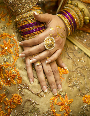 bead jewelry: Indian bride hands