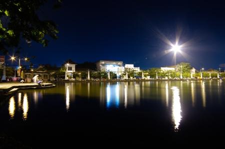night water reflection scene photo