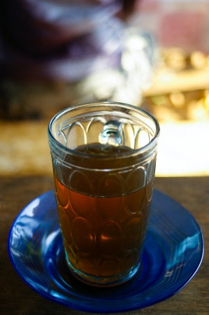 a glass of tea photo