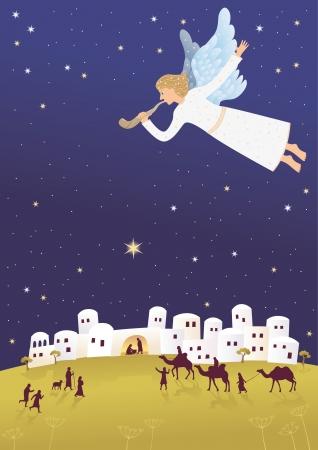 nacimiento de jesus: Nacimiento de Jes? Vectores