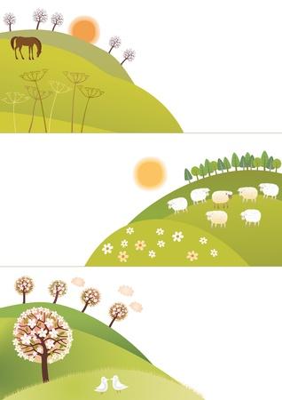 Frühling Ecken Standard-Bild - 20261193