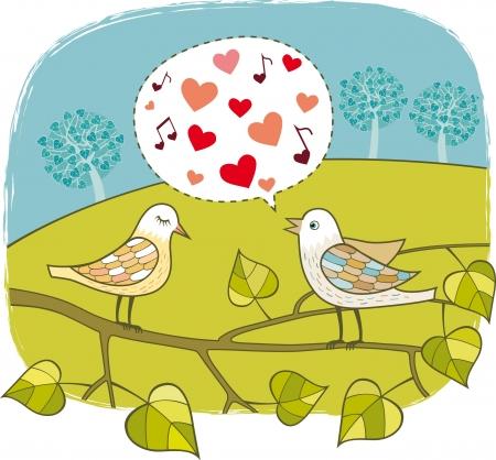 profesar: Aves en el amor Vectores