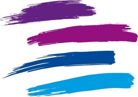Strokes von einem Pinsel Standard-Bild - 24899398