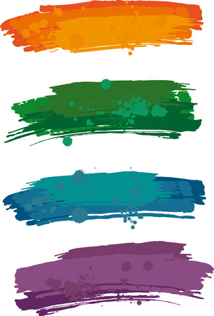 Strokes von einem Pinsel Standard-Bild - 24899403
