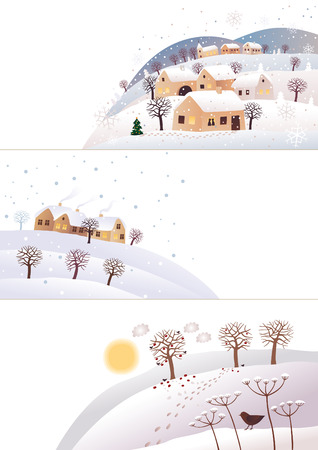 Winter corners Vector