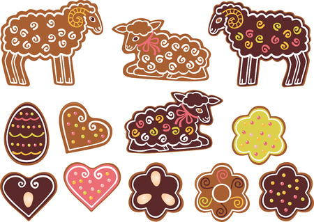 paschal lamb: Easter gingerbread