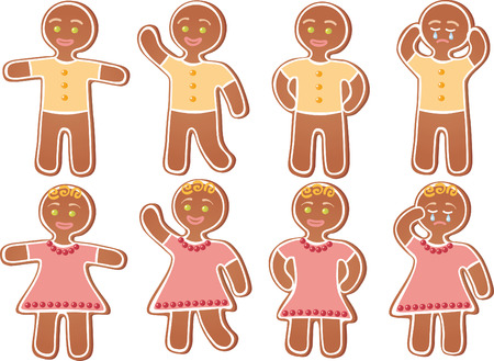 Gingerbread person Vector