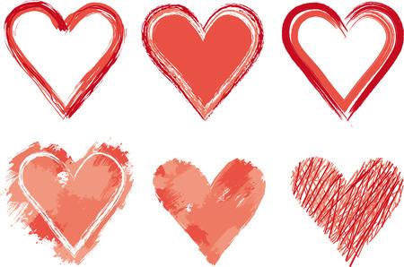 Gemalten Herzen Standard-Bild - 25623957