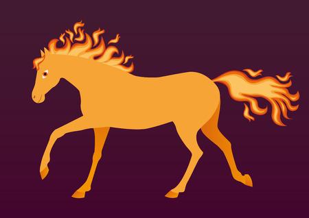 transcendental: Fiery horse