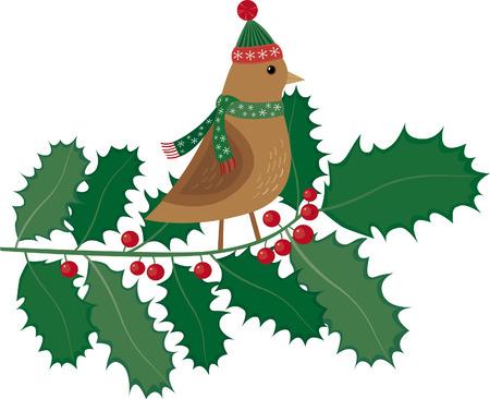 Fashion Christmas bird Illustration