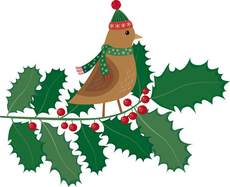 bumpkin: Fashion Christmas bird Illustration