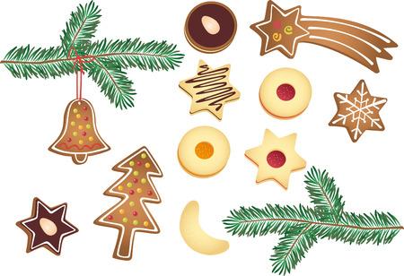 bułka maślana: Christmas plików cookie