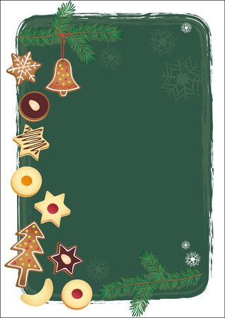 shortbread: Christmas background