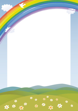 Rainbow card Vector
