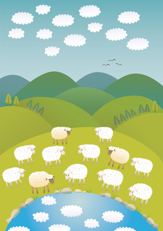 Sheep and clouds