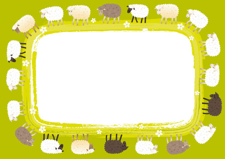 Sheep card Vector