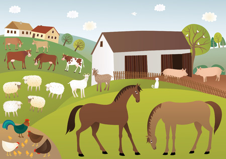 homestead: Farm Illustration