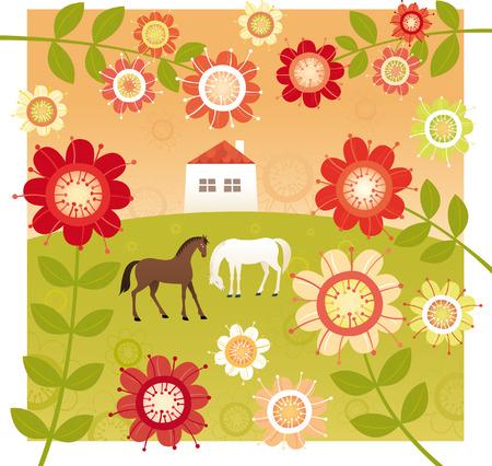sweet home: Sweet home y rojo jard�n de flores