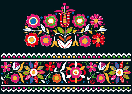 Slovak folk ornaments  イラスト・ベクター素材