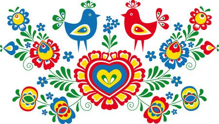 Simplified folk ornaments from Moravia Stock Illustratie